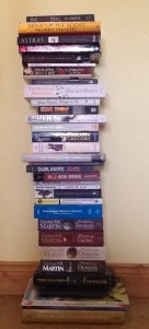 My 2013 bedside book pile