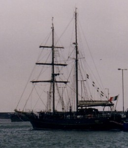 Asgard II at Howth with Baggywinkles