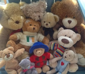a hug of teddies