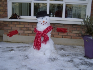 No snow this year for Christmas - this snowlady is from 2013